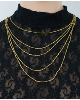 Five strands brass necklace (0021)