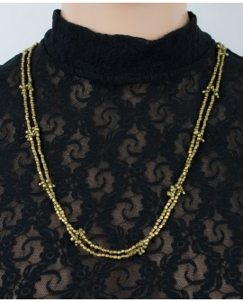 Long brass necklace, belly chain (0016)