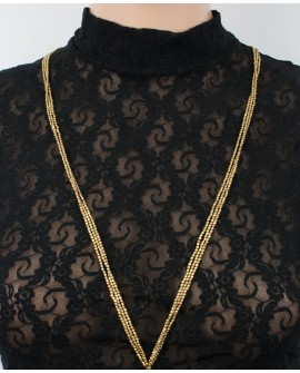 Long brass necklace (0022)
