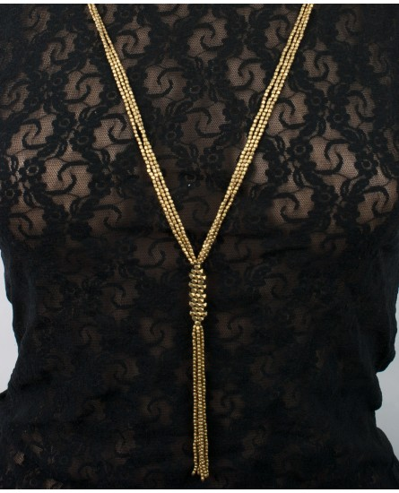 Long brass necklace (0022)