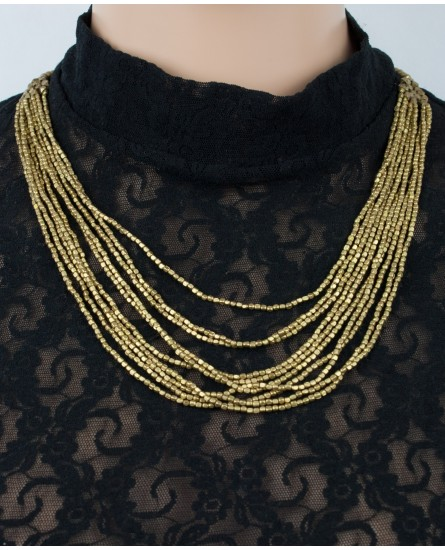 Multi strands brass necklace (0023)