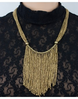 Brass necklace with long tassels