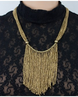 Stylish brass necklace (018)
