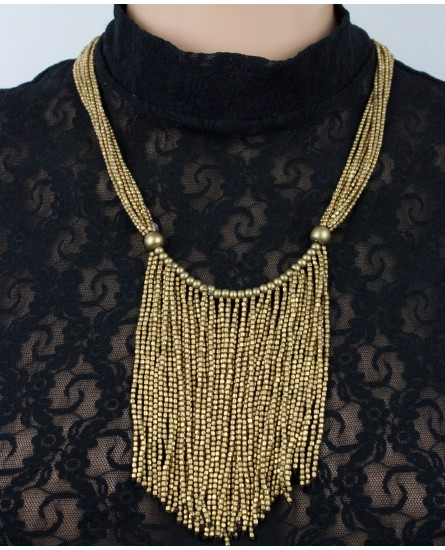 Stylish brass necklace (0018)
