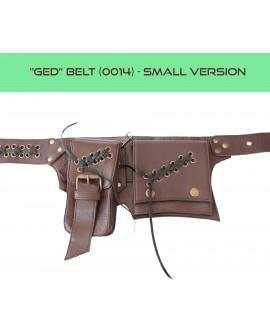 Steampunk pocket belt, Burning Man waist bag, leather utility belt, belt with pockets, hip bag [SMALL VERSION] - Ged (0014)