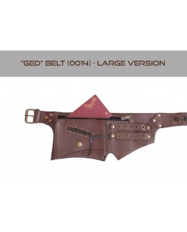 Steampunk pocket belt, Burning Man waist bag, leather utility belt, belt with pockets, hip bag [LARGE VERSION] - Ged (0014)